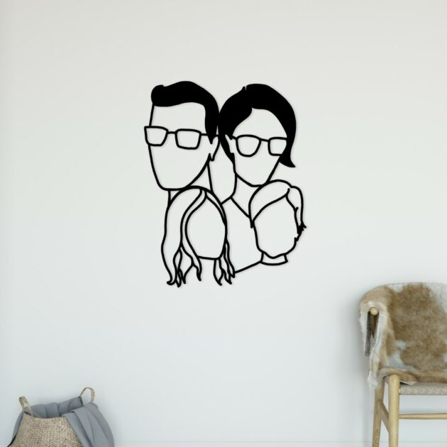 Silver Lining Studio - customized wall art family portrait